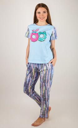 69c69deb44f9 Трикотажные костюмы, пижамы, ночные сорочки, платья, туники ...